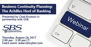 {Webinar} Business Continuity Planning - Achilles Heel of Banking