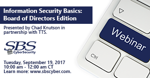 {Webinar} Information Security Basics: Board of Directors Edition