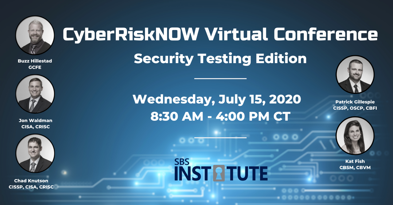 CyberRiskNow Virtual Conference: Security Testing Edition
