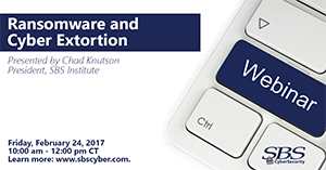 {Webinar} Ransomware and Cyber Extortion