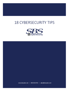 18 Cybersecurity Tips