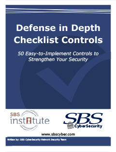 Defense in Depth Checklist Controls
